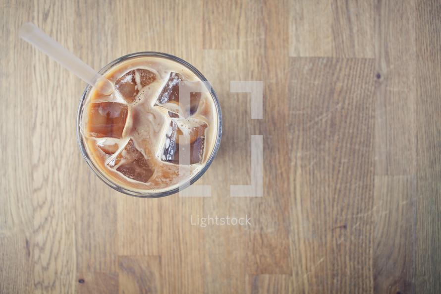 an iced latte