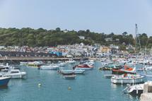 crowded marina