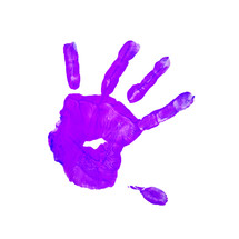 purple handprint