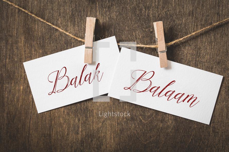 Balak Balaam