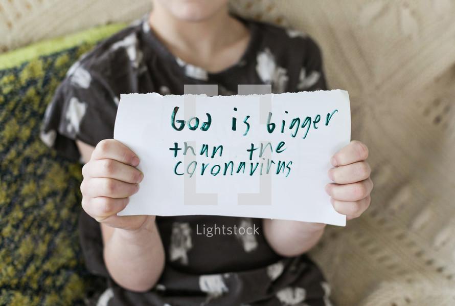 God is Bigger than the coronavirus