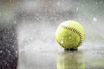 softball in the rain