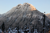 snow on a mountain peak