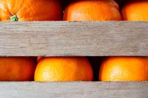 oranges in a crate