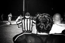 referee at a football game