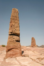 obelisks which probably represented Nabatean deities.
