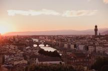 city skyline in Rome