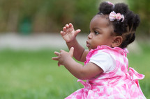 African American toddler girl portrait