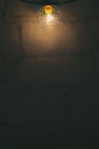 glowing light bulb