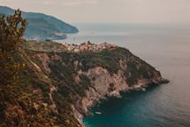 village on a sea cliff