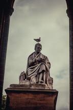 bird on a statue