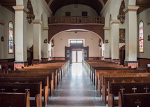 empty church interior