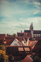 roof tops of homes in a European town