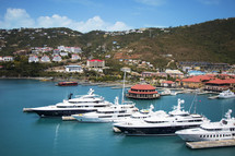 ships at a port in St Thomas