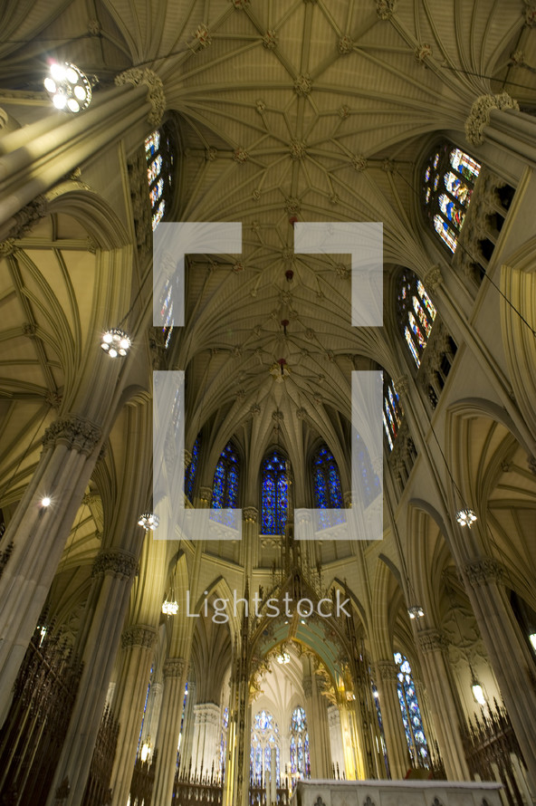 New York City St Patrick's Cathedral interior