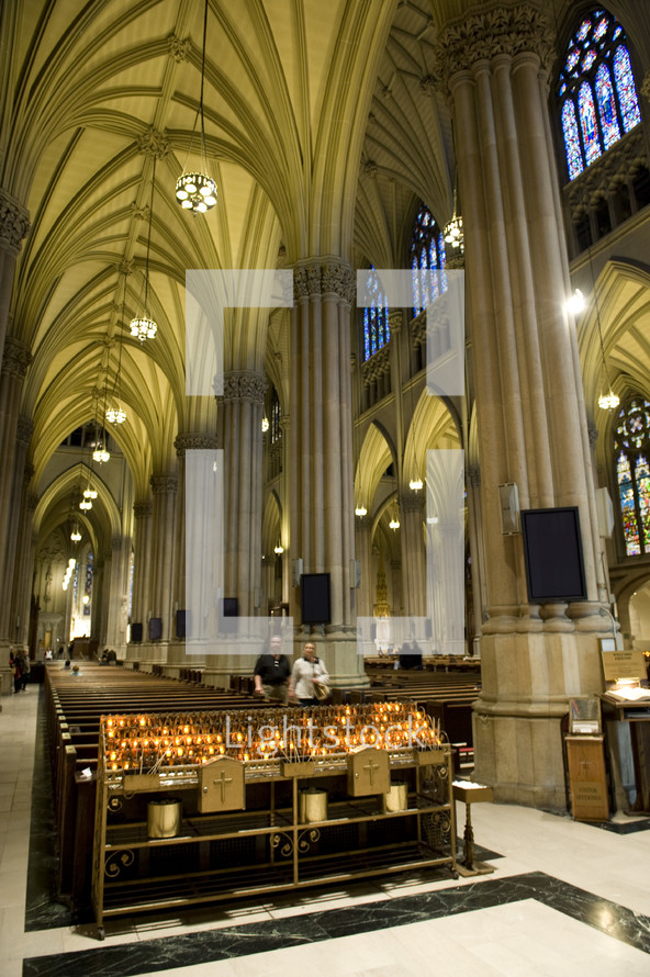 votive prayer candles in St Patrick's Cathedral