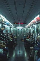 busy NYC subway train