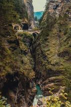 bridge over a steep ravine