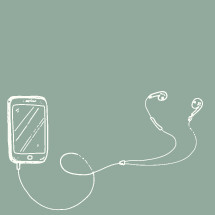 iphone and earbuds