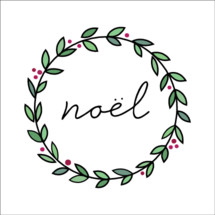 Noel Christmas wreath handwritten farmhouse script font