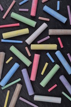 chalk on slate