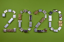 advent gifts in the shape of 2020