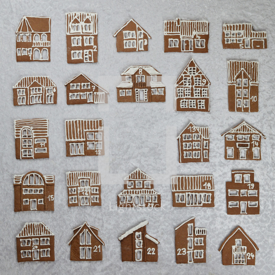 gingerbread house cookies countdown to Christmas