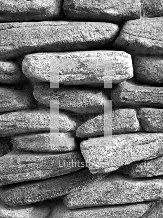 Wall of stones.