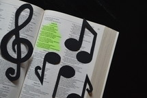 Psalm 121: a song in the bible with notes and clef, 