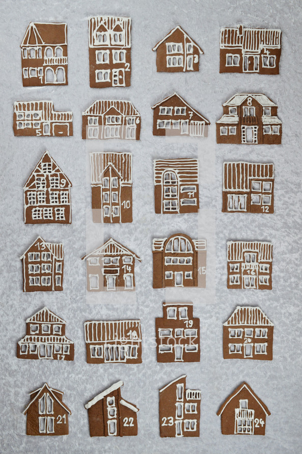 gingerbread house cookies for advent