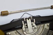 typewriter typing thank you