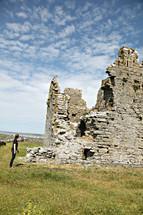 stone castle in ruins