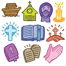 Christian Cartoon Icons set of 10