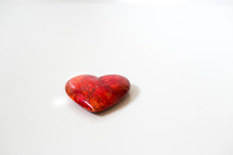 red heart shaped stone