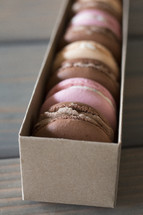 a box of macaron cookies