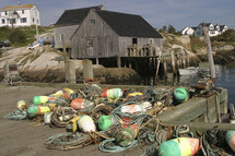 ropes and buoys on a dock