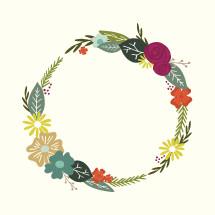 floral wreath illustration.
