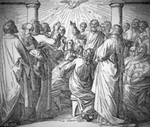 The Holy Spirit Comes at Pentecost. Acts 2, 1-41