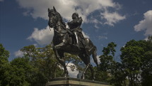Toronto, Canada Queens Park statue