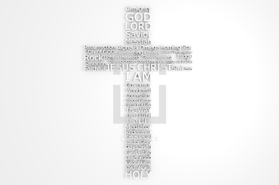 Cross With Biblical Names of JESUS CHRIST