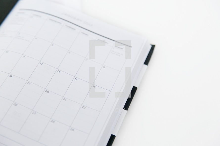 pages of a planner