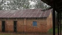 heavy Rain falling on a Kenyan school