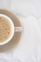 froth in a coffee cup