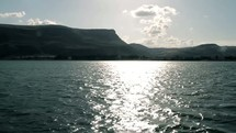 Traveling across the Sea of Galilee.