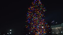 Christmas tree in front of the Utah State capitol building