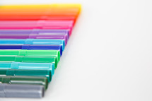 rainbow of markers