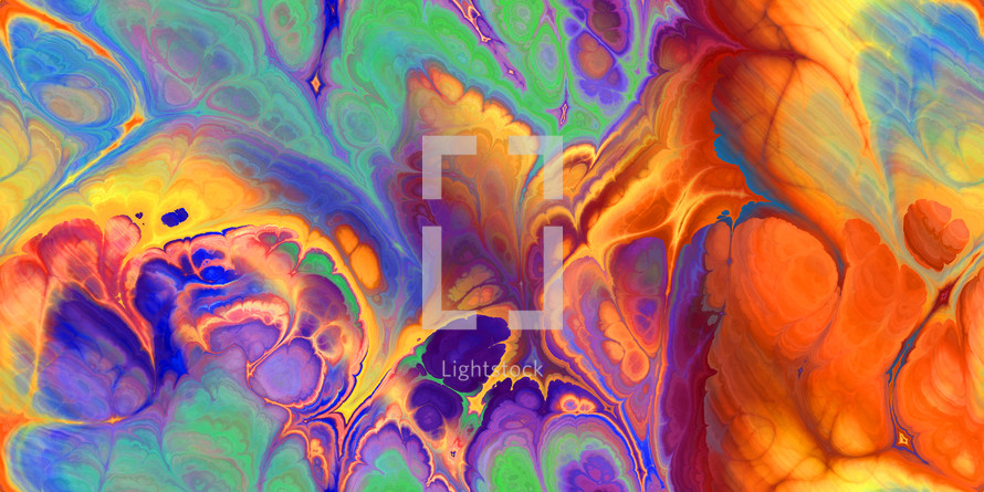 marbleized rainbow swirled background