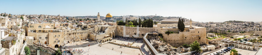 A panorama of the Temple mount in Jerusalem