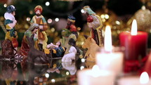 Nativity Scene and candles