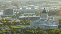 Salt Lake City and capitol building